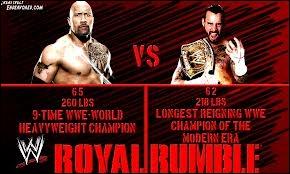 Qui affrontera Cm Punk au Royal Rumble en 2013 ?