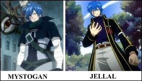 Jellal et MistGun sont frères mais avec une personnalité contraire :