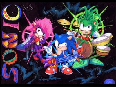 Comment s'appelle l'animé où Sonic a un frère et une soeur et où ceux-ci ont des instruments avec des pouvoirs ?