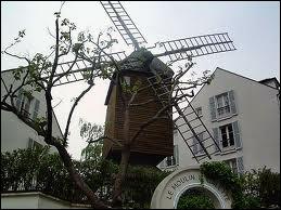 Comment se nomme le seul moulin à vent en état de marche de la butte Montmartre ... ...