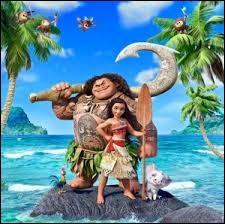 Quel animal de compagnie de Vaiana va rester sur l'île après son départ ?