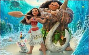 Comment s'appelle le demi-dieu qui va aider Vaiana à sillonner l'océan à la recherche de l'île de la déesse de la nature ?