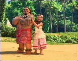 Quel est le nom de l'île où le père de Vaiana est le chef respecté de tout son peuple ?