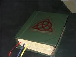 Qu'y a-t il de marqué sur la première page du  Livre des ombres  en américain ?