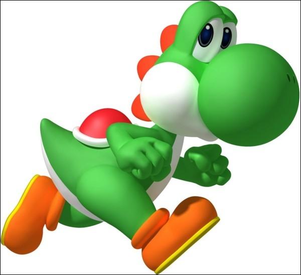Comment se nomme le dinosaure de couleur verte qui accompagne parfois Mario ?