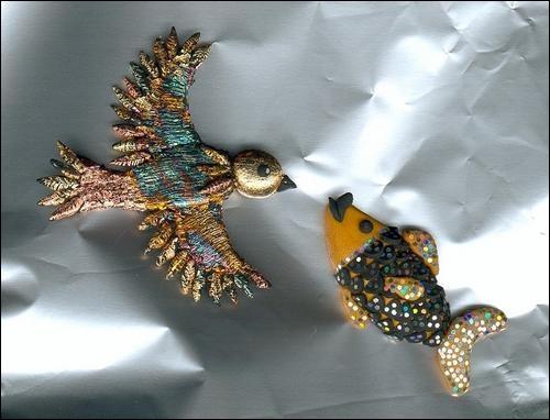 Un petit poisson, un petit oiseau s'aimaient d'amour tendre !