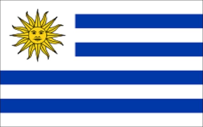 Ce pays se souleva contre l'Espagne en même temps que son voisin et on retrouve le  Soleil de mai  sur son drapeau. Mais il dut ensuite s'affranchir du Brésil. C'est la République orientale ...