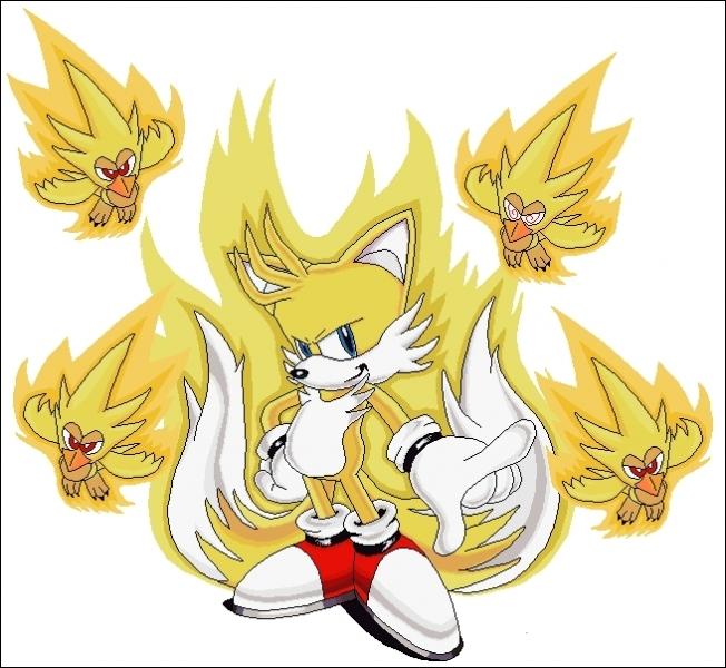 Super Tails existe. Vrai ou faux ? (L'image a été faite par des fans. Attention donc, les apparences sont parfois trompeuses ! )