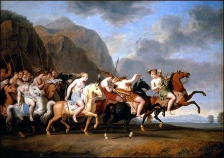 Diodore de Sicile décrit cette reine des Amazones comme une conquérante. En effet, elle aurait d'abord conquis la cité d'Atlante de Cerné avant de conquérir la Libye et une partie de l'Égypte.