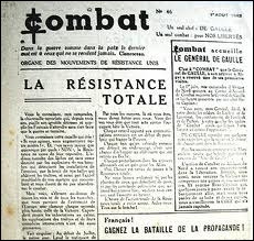"""Quel est le titre du journal lancé en juillet 1941 dans la clandestinité par le mari de cette dernière ? C'était l'un des principaux journaux de la résistance avec """"Combat"""""""