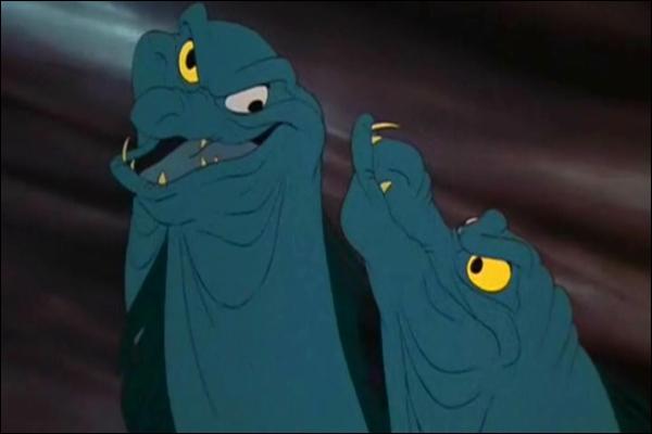 Comment se nomment les murènes qui accompagnent Ursula dans le film d'animation Disney  La petite sirène  ?