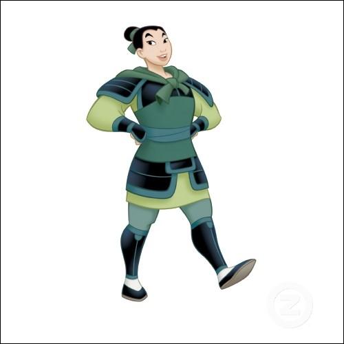 Quel prénom masculin adopte Mulan lorsqu'elle intègre l'armée de Chine ?