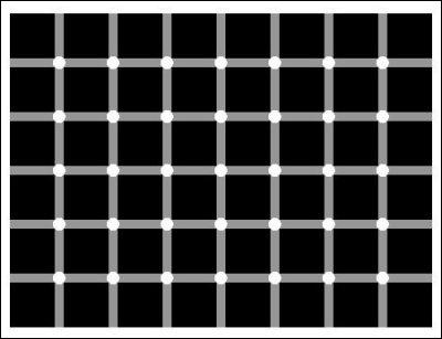 Combien de points noirs sont présents sur l'image ?