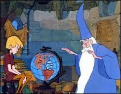 Quelle est la véritable profession de Merlin , le vieil homme qui va se charger de l'éducation d'Arthur ?