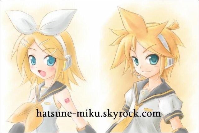 Hormis l'orange et la banane, quel est l'objet favori de Rin et Len Kagamine ?