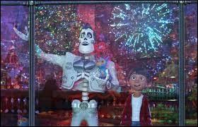 À l'intérieur de quel instrument de musique Miguel parvient-il à s'introduire clandestinement dans la grande fiesta organisée par Ernesto de la Cruz ?
