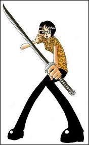 A qui appartenait en premier lieu le sabre que Tashigi tient entre ses mains ?