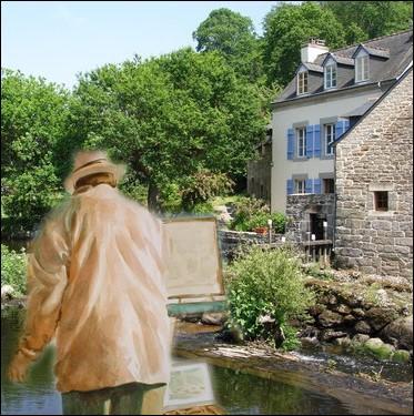Pont-Aven, Cité des peintres en Finistère où séjourna Paul Gauguin, fut le départ d'un mouvement pictural ... .