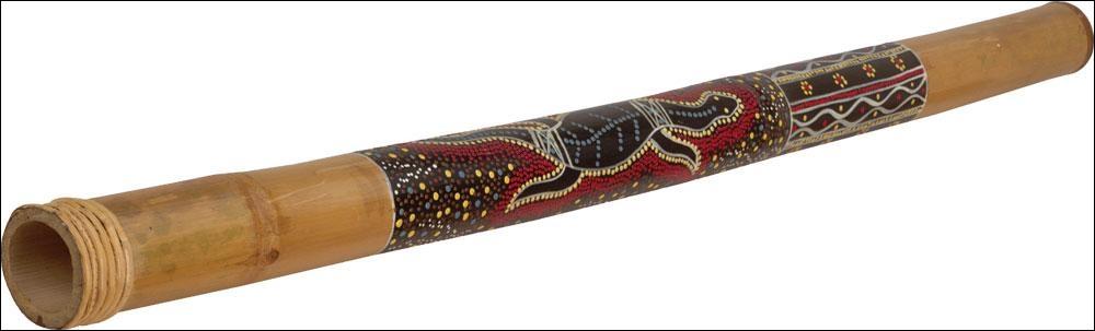 Quel est cet instrument de musique développé par les aborigènes australiens et qui ressemble à une trompette en bois ?
