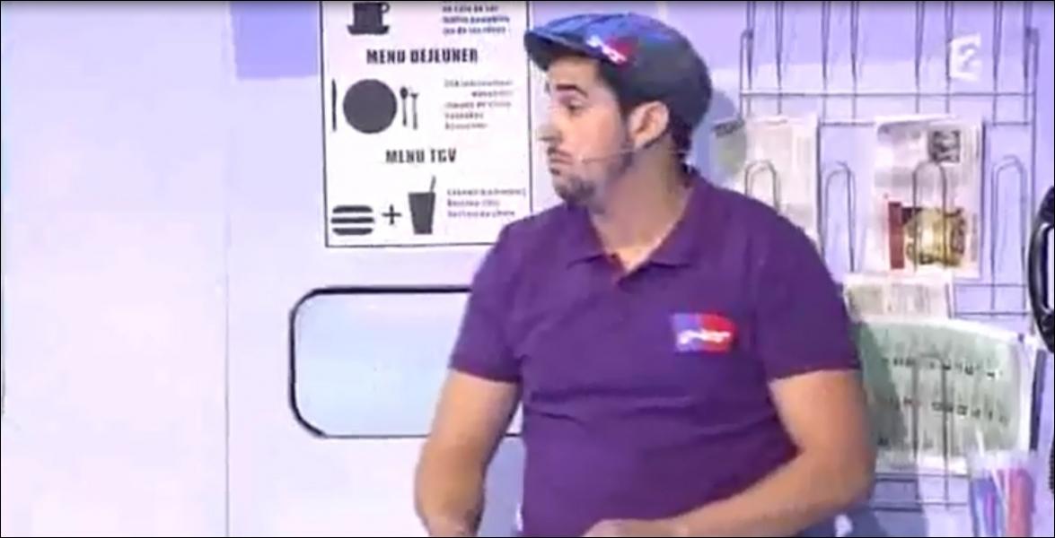Dans ce sketch d'Artus :  Steward au wagon bar d'un TGV , combien doit payer Arnaud Tsamere pour la formule TGV ?