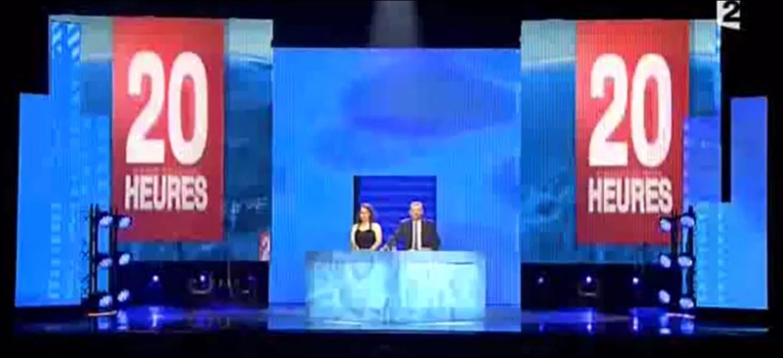 Dans ce sketch des Kicékafessa :  une comédienne s'excuse après une bourde , quelles sont les 3 premières marques que cite Sandys Euro, alias Sandra Colombo ?