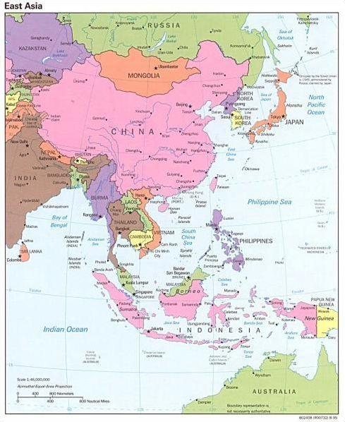L'Asie de l'Est