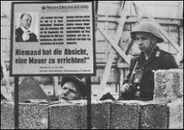 En quelle année le mur de Berlin a-t-il été érigé ?