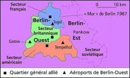 Au lendemain de la 2ème Guerre mondiale, Berlin était divisé en combien de zones d'occupation ?