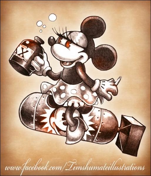 C'est une souris très mignonne, créée par Walt Disney !