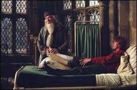 Dans HP 2, que demande Dumbledore à Ron après avoir découvert qui été à l'origine de toutes ces agressions ?