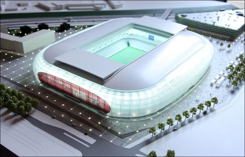 Où vient d'être construit le tout nouveau   Grand stade   ?