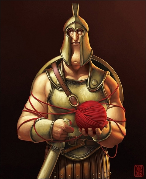 Quel célèbre club de football a un rapport concret avec cette image, parodiant un célèbre gladiateur, qui mit à mal l'autorité romaine ?