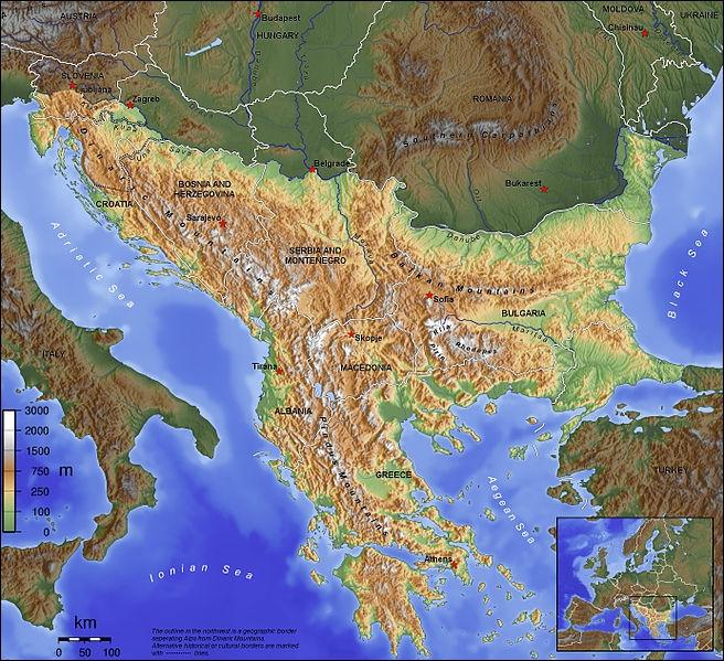 Quelle est cette région qui se trouve au sud-est de l'Europe ?