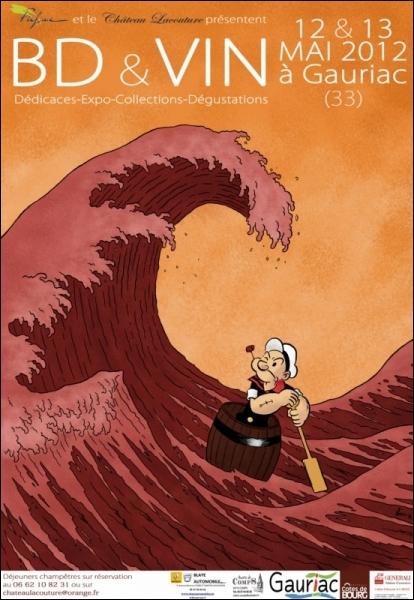 De quel lieu, où normalement se déroule la vinification, pourrait bien provenir cette marée rouge sur laquelle navigue Popeye ? A votre santé  amis quizeurs  !