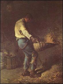 Quelle scène nous est dépeinte par Jean-François Millet sur ce tableau ?