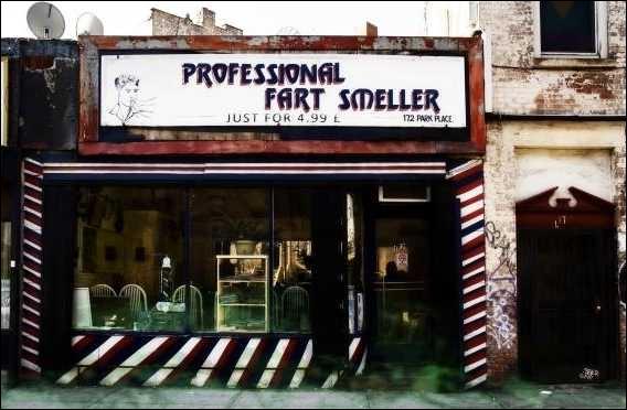Ce métier ressemble un peu à celui de la question n2... Selon l'affiche de ce magasin, que font les employés ?