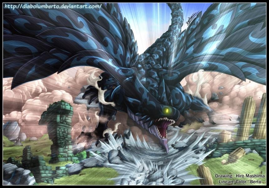 Comment se nomme le dragon surnommé le  dragon noir  dans le livre de l'apocalypse ?
