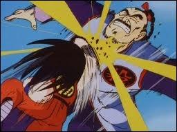 Sangoku se battait aussi lorsqu'il était jeune. Contre qui se bat-il sur cette image ?