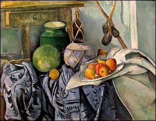 De quel artiste post-impressionniste, né à Aix-en-Provence, est ce tableau à l'aubergine et gingembre ?