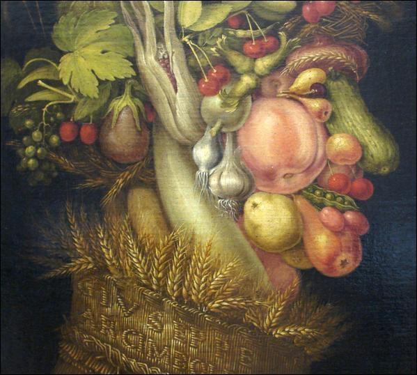 Les quatre saisons sont l'œuvre d'Arcimboldo. Où voyez-vous une courgette ?