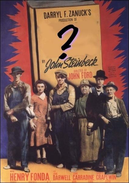 La petite note cinéma. Quel est ce film culte américain réalisé en 1940 par John Ford , relatant l'histoire de la famille Joad, lors de la Grande dépression américaine de 1929 ?