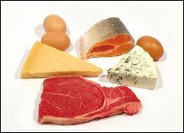 Le poisson, les œufs, la viande, le fromage sont des aliments particulièrement riches en :