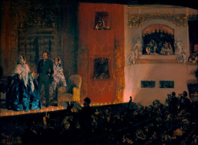 Le Théâtre du Gymnase à Paris, 1856