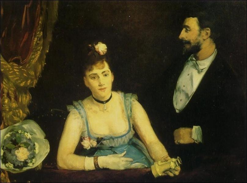 Une Loge aux Italiens, 1874