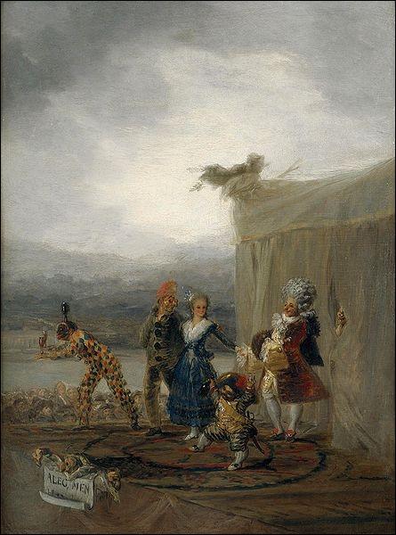 Les comédiens ambulants, 1793