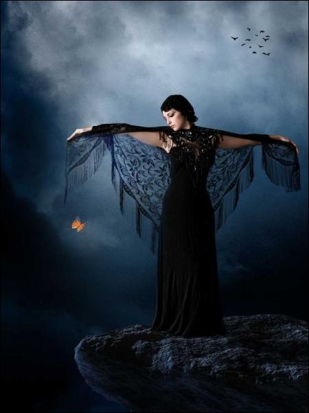 Quelle actrice tient le rôle titre, plagié par cette photo, dans le film  L'Ange noir , aux côtés de Michel Piccoli ?