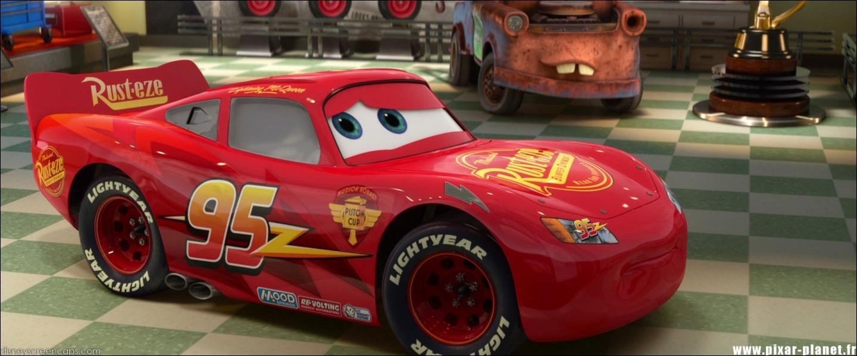 La marque des pneus de Flash est un hommage à un autre personnage de Pixar. Lequel ?