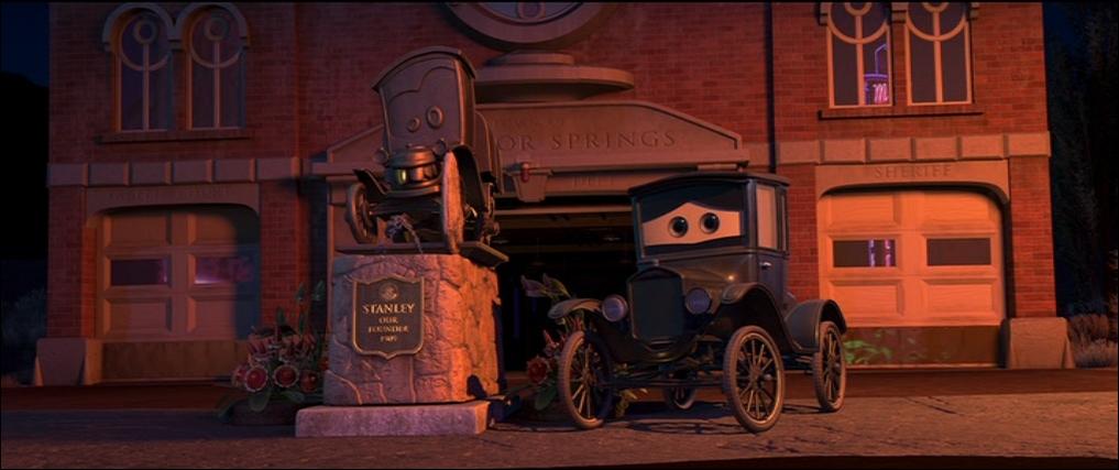Lizzie étant la doyenne de Cars, il est tout naturel que ce soit une ... ?