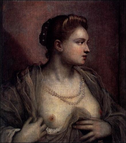 Portrait d une femme révélant ses seins, 1570