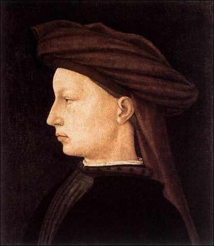 Portrait de profil d'un jeune homme, 1425